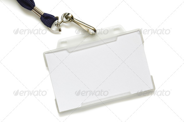 Name tag on lanyard - Stock Photo - Images