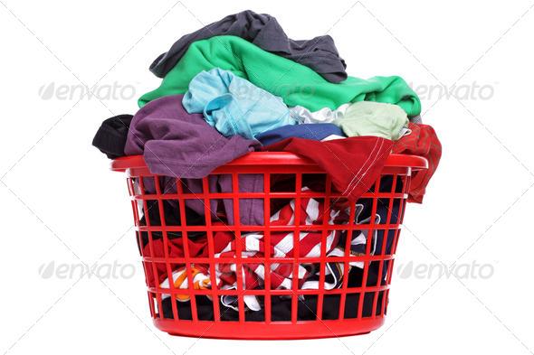 Laundry basket - Stock Photo - Images