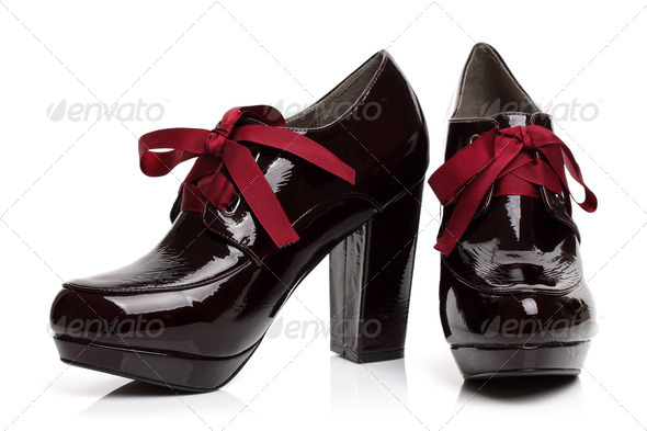 Black high heels shoes - Stock Photo - Images