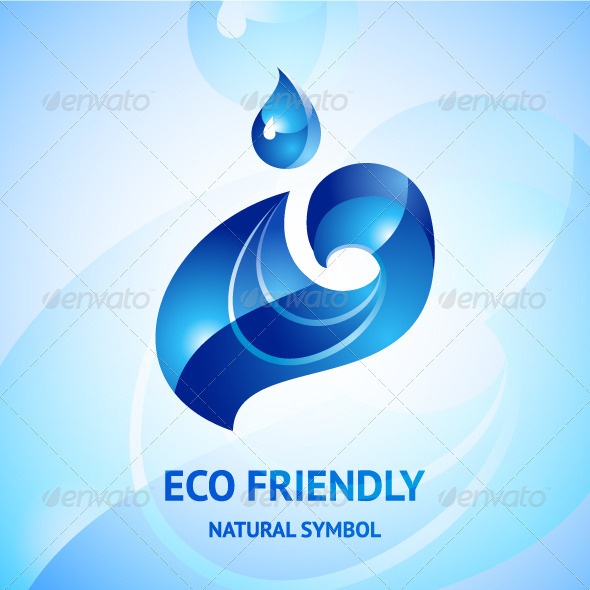 Water Natural Blue Symbol - Nature Conceptual