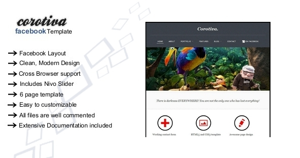 Corotiva – Facebook Business Template