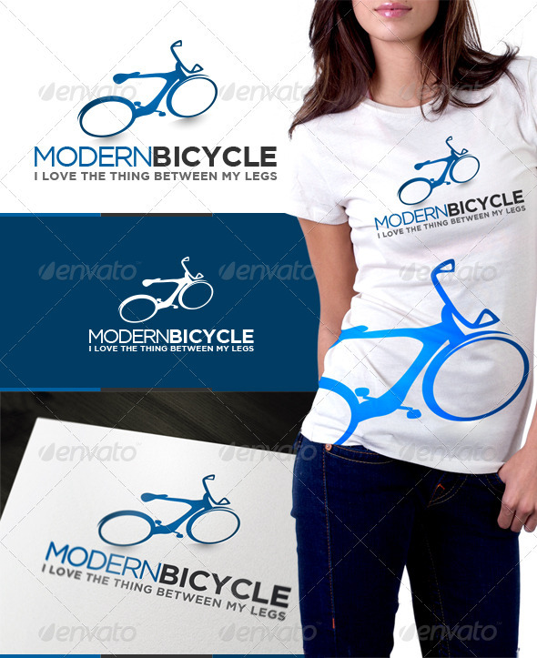 Modern Bicycle - Objects Logo Templates