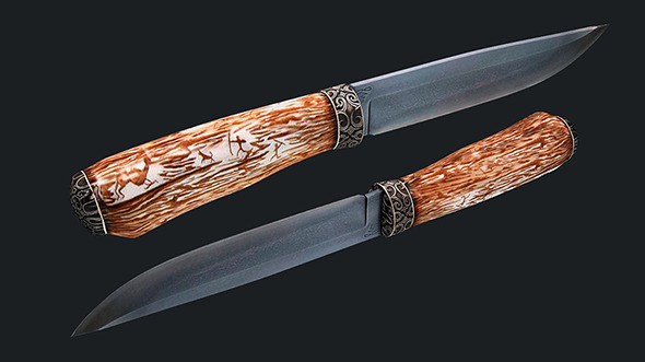Kizlyar hunting knife - 3DOcean Item for Sale