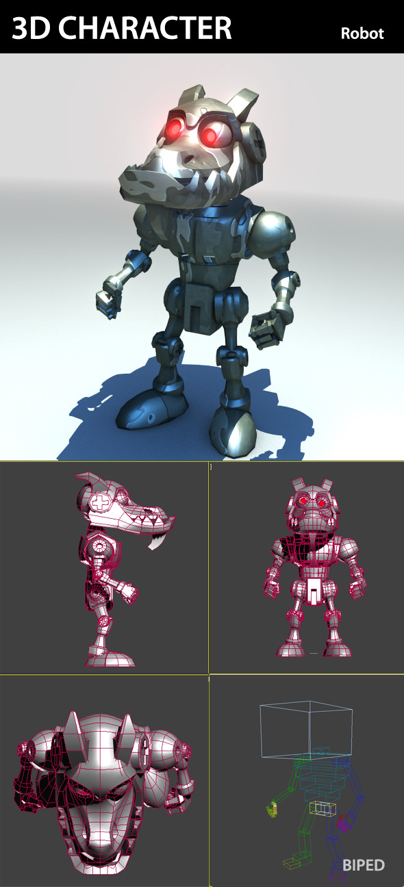 3d Character Robot - 3DOcean Item for Sale