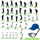 40 Detailed Golf vector silhouettes set - GraphicRiver Item for Sale