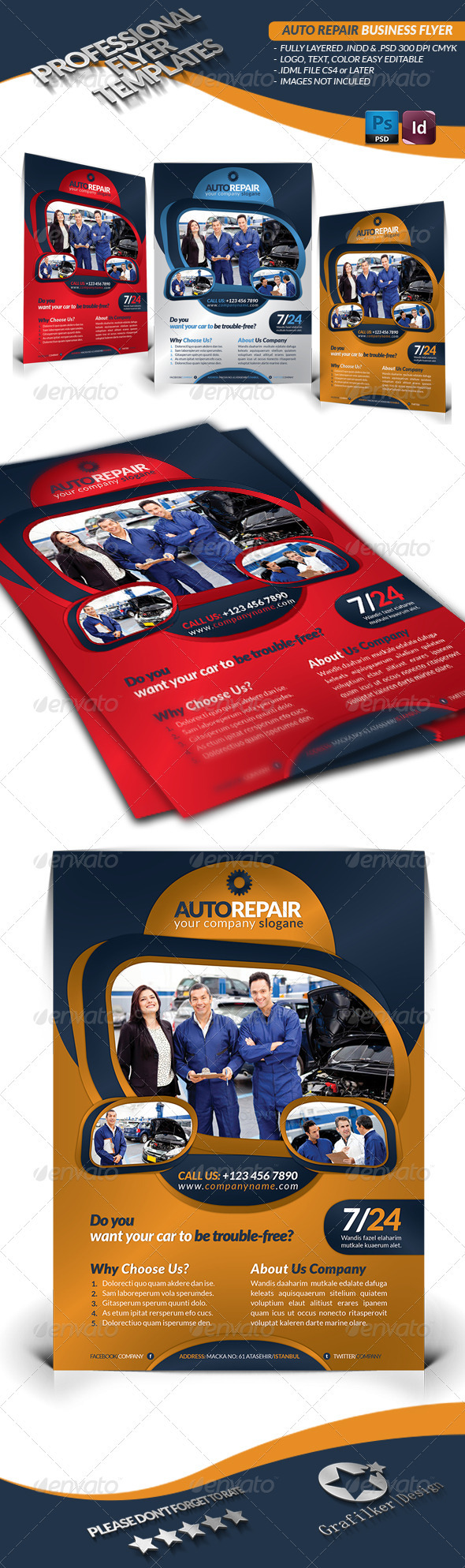 Auto Repair Business Flyer - Commerce Flyers
