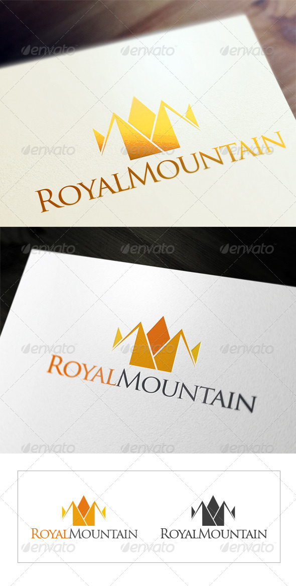 Royal Mountain - Objects Logo Templates