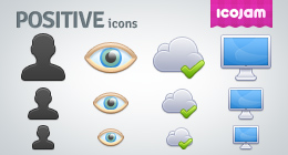 Positive icons