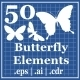 50 Butterfly Element - GraphicRiver Item for Sale