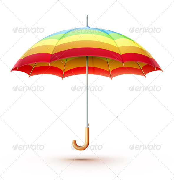 Multicolored Umbrella  - Man-made Objects Objects