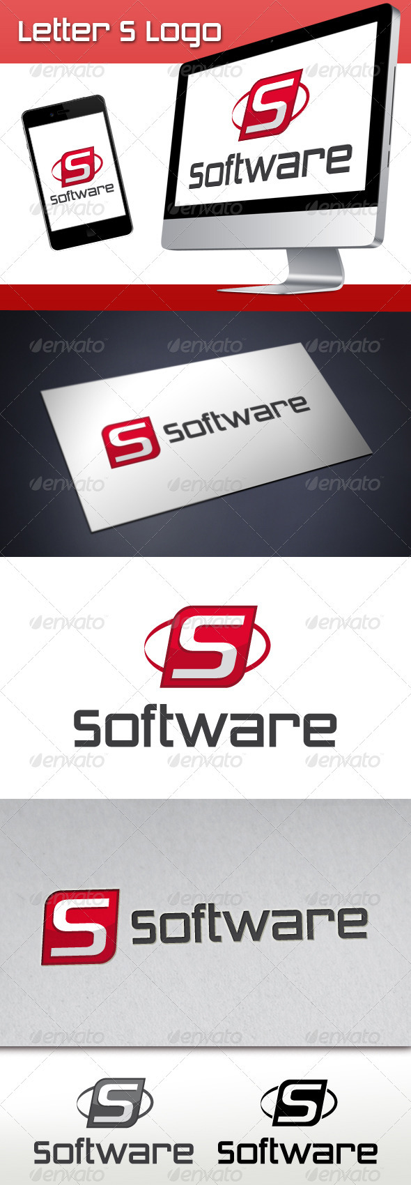 Software Brand Letter S Logo - Letters Logo Templates