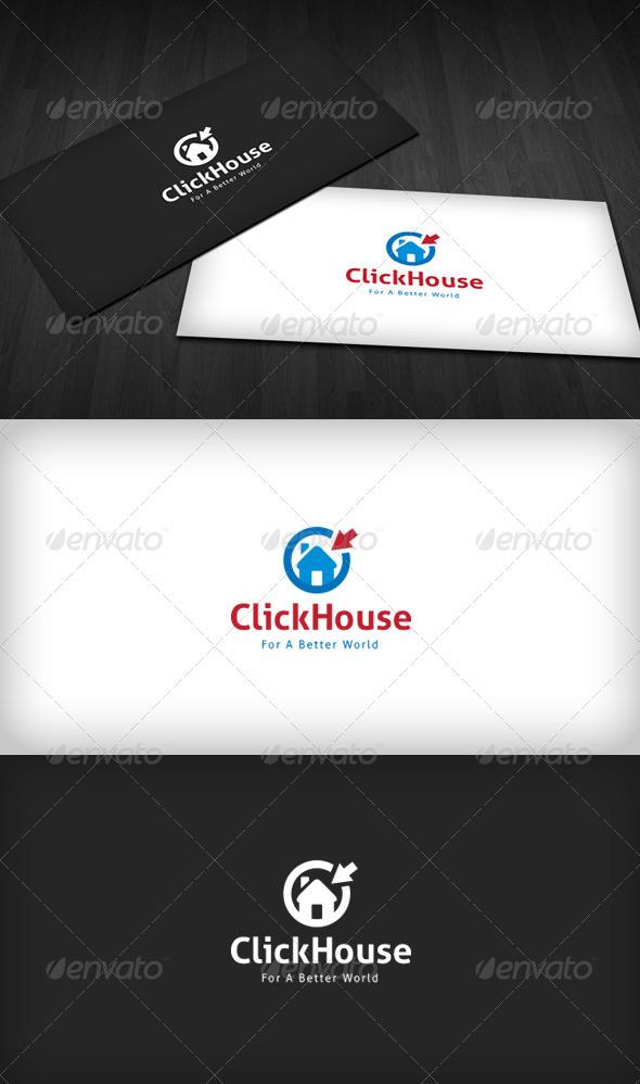 Click House Logo - Buildings Logo Templates