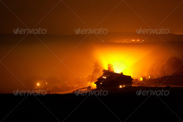 Foggy Night - Stock Photo - Images