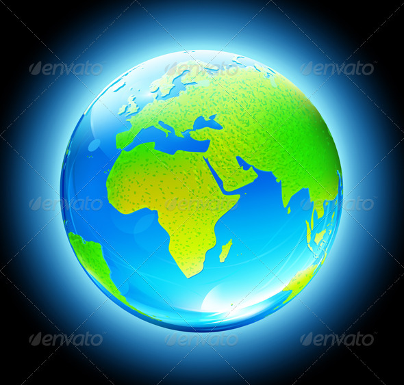 Earth Globe - Conceptual Vectors