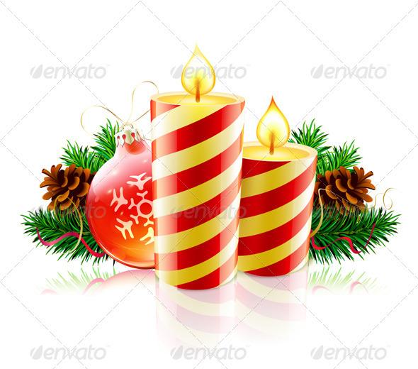 Christmas Decorative Composition - Christmas Seasons/Holidays