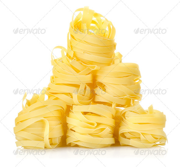 Pile of pasta tagliatelle - Stock Photo - Images