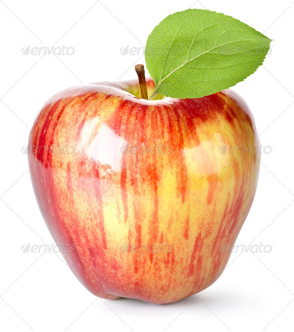 Striped red apple - Stock Photo - Images