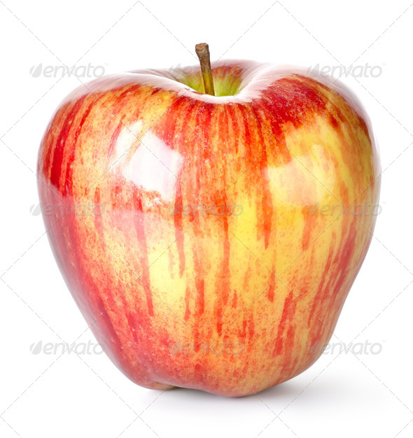 Striped apple - Stock Photo - Images
