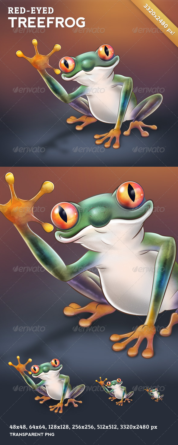 Red-Eyed Treefrog - Character Design - Characters Illustrations