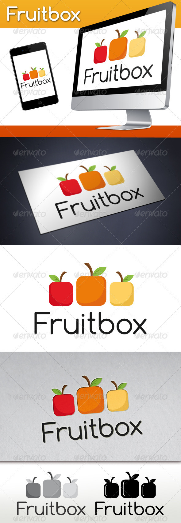 Fruit Box Logo - Food Logo Templates