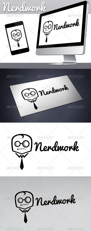 Geek Work (Nerd Work) Logo - Humans Logo Templates