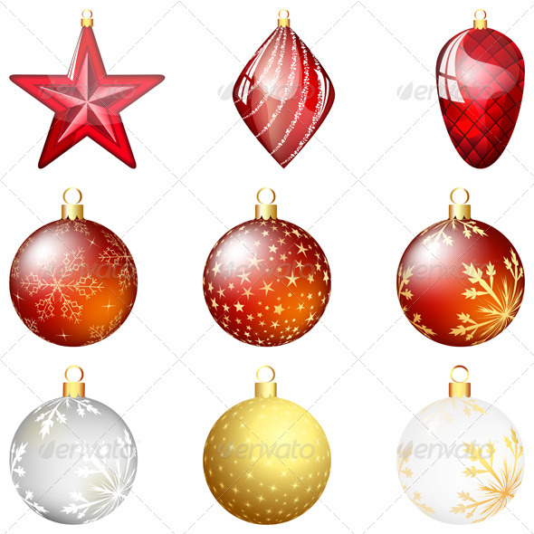 Christmas Ornaments Set - Christmas Seasons/Holidays
