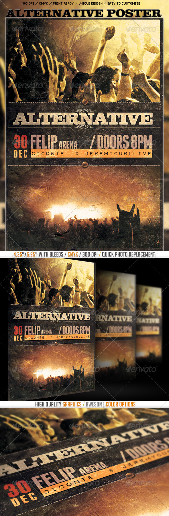 Alternative Poster/Flyer Template - Events Flyers