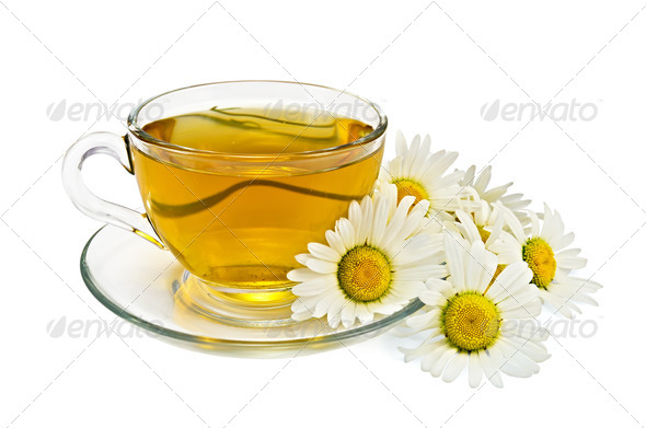 Herbal tea with chamomile - Stock Photo - Images