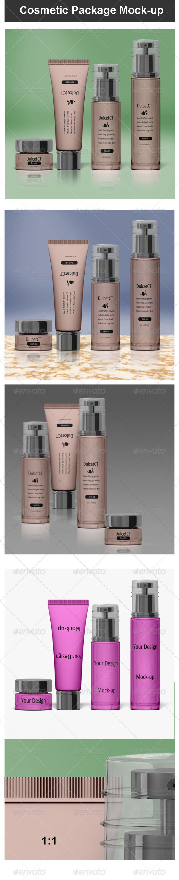 Cosmetic Package Mock-up - Beauty Packaging