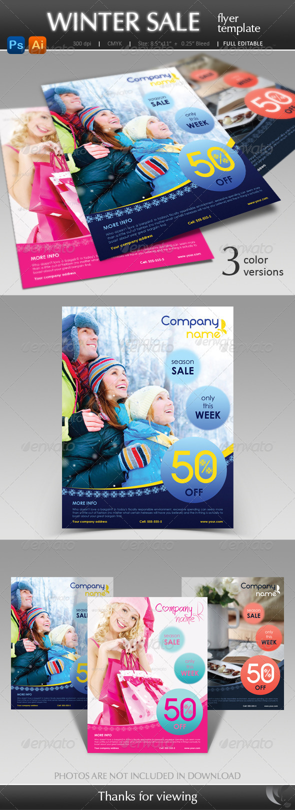 Winter Sale Flyer Template - Corporate Flyers