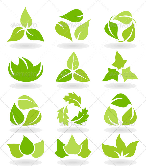 Leaf Icon Set - Flowers & Plants Nature