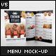 Half Fold Menu Mock-up - GraphicRiver Item for Sale