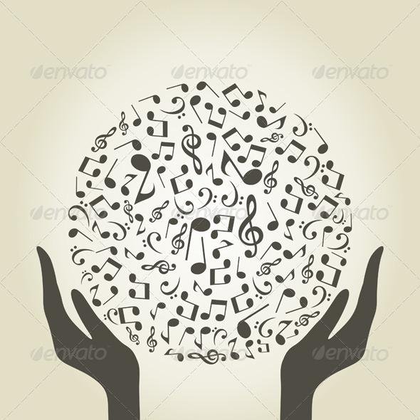 Music Hands - Conceptual Vectors