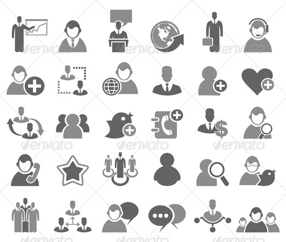 Business Icons Set - Web Elements Vectors