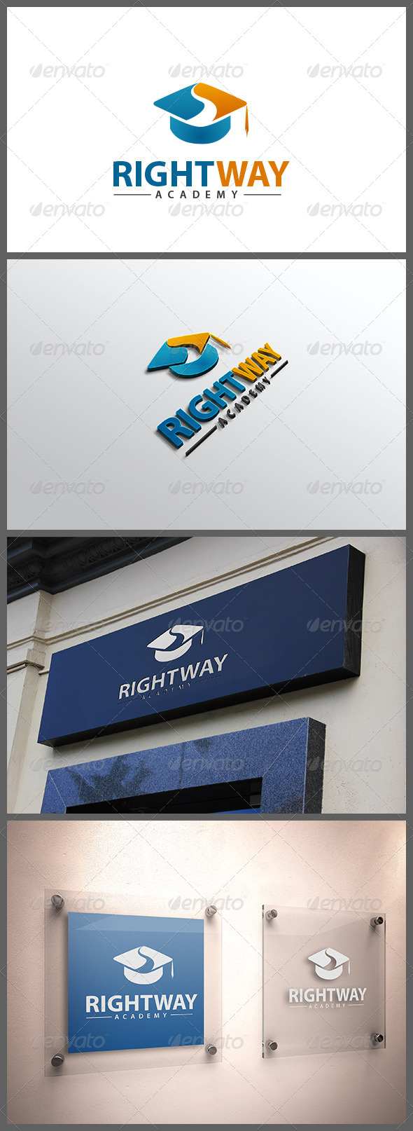 Right Way Academy - Objects Logo Templates