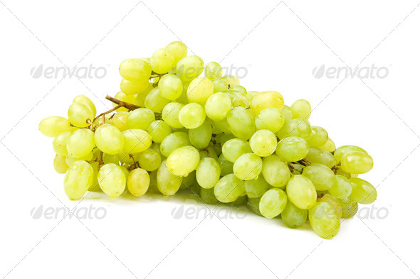Bunch of white grapes. - Stock Photo - Images