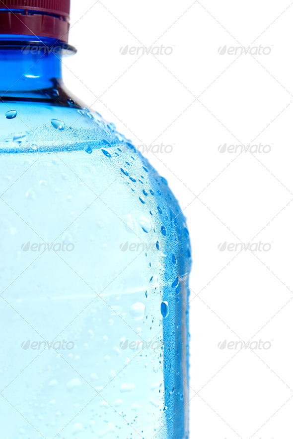 Droplets on the bottle. Isolated on white background. - Stock Photo - Images