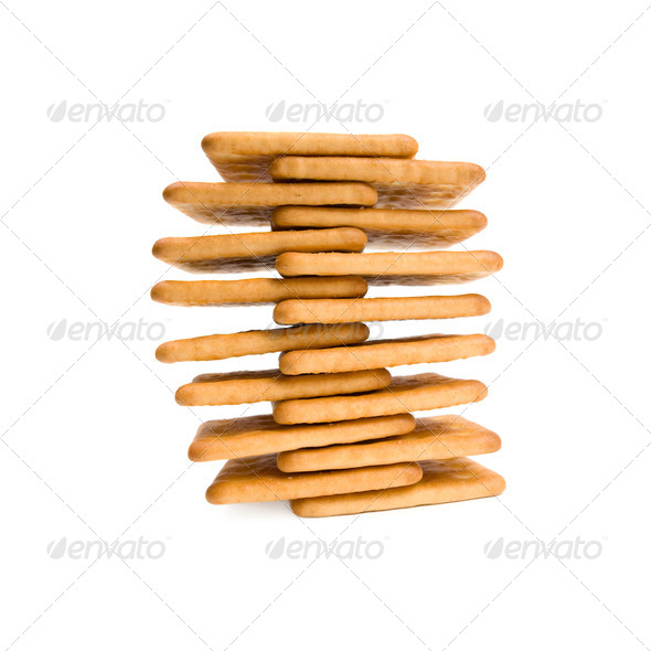 Pyramid of biscuits. - Stock Photo - Images