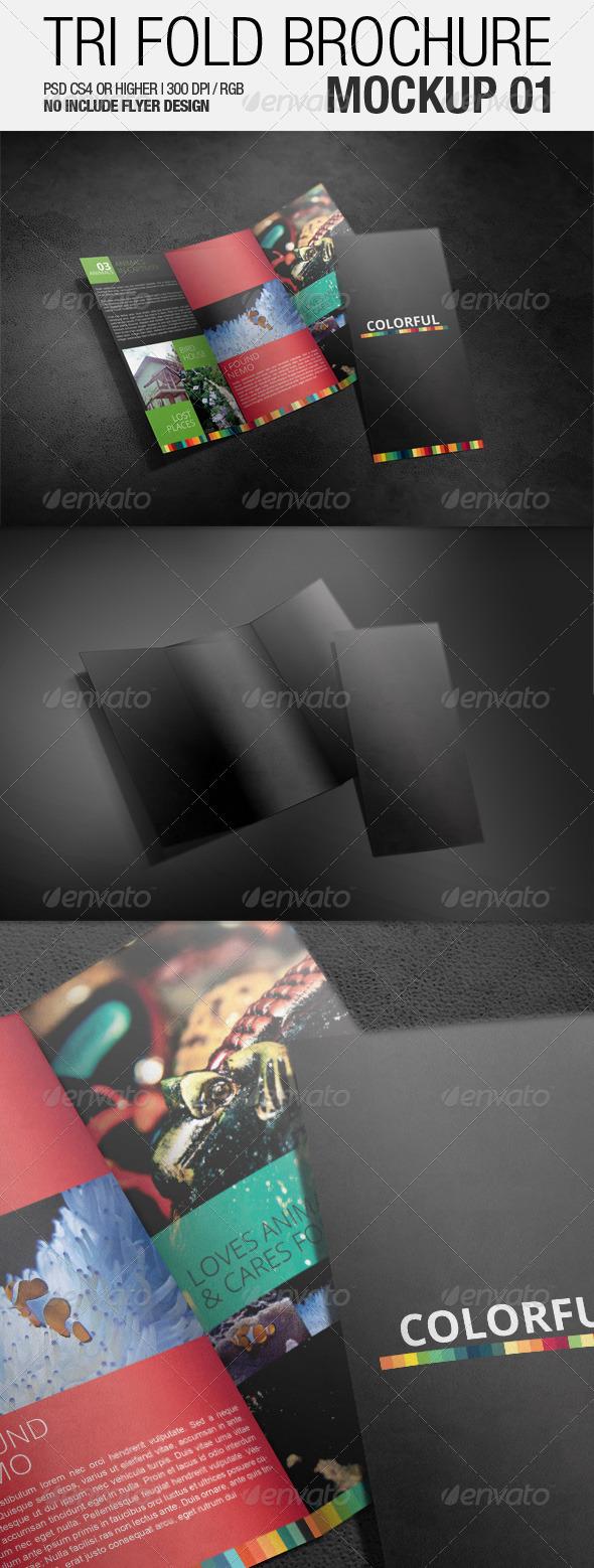 Tri Fold Brochure Mockup 01 - Brochures Print