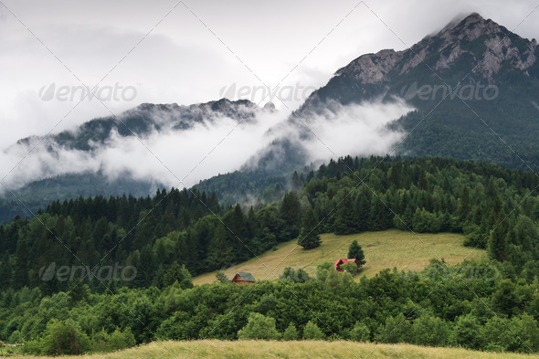 mountains and clouds - Stock Photo - Images
