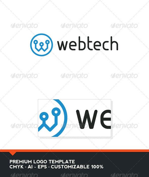 Web Tech - Letter W Logo Template - Letters Logo Templates