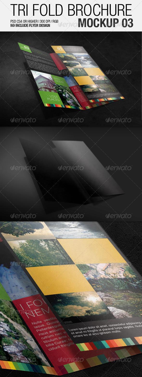 Tri Fold Brochure Mockup 03 - Brochures Print