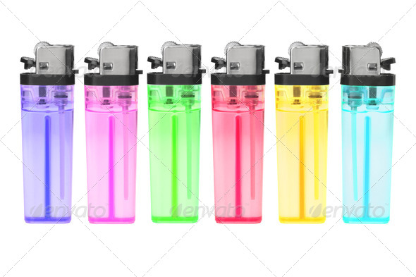 Disposable Plastic Gas Lighters - Stock Photo - Images