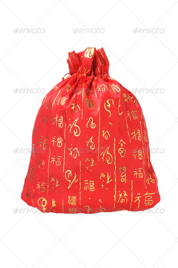 Chinese New Year Money Bag - Stock Photo - Images