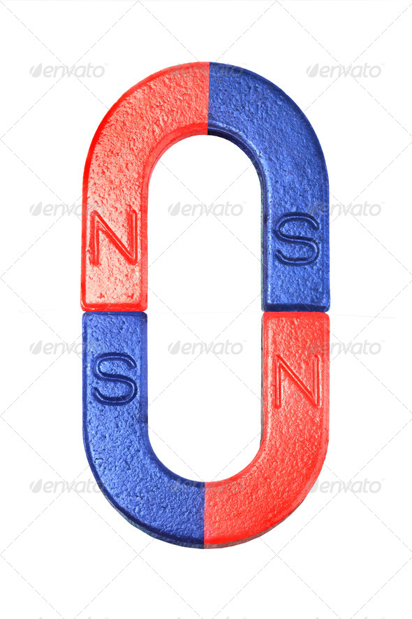 Horseshoe Magnets - Stock Photo - Images