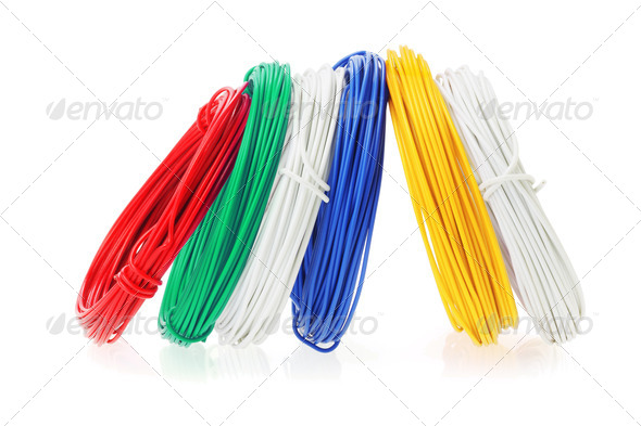 Coils of Color Wires - Stock Photo - Images