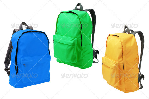 Three Backpacks - Stock Photo - Images