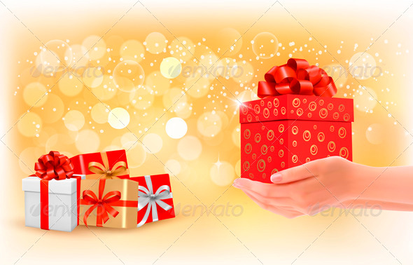 Christmas Background with Gift Boxes.  - Christmas Seasons/Holidays