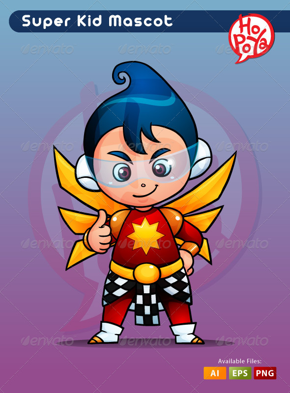 Super Kid - Characters Vectors