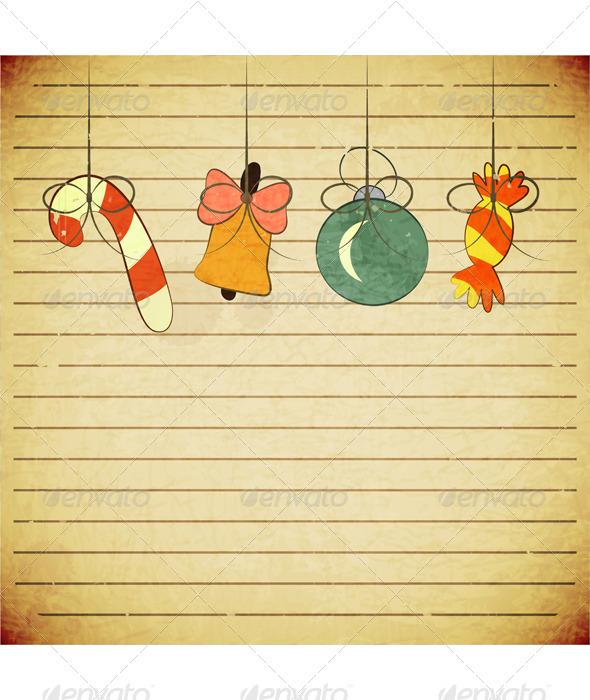 Christmas Vintage Postcard with Toys - Christmas Seasons/Holidays